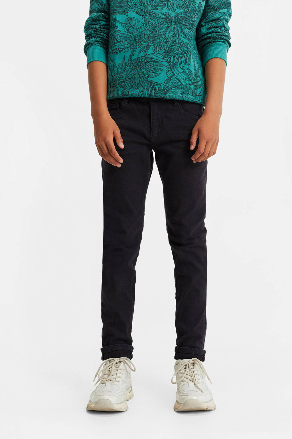 WE Fashion Blue Ridge tapered fit jeans donkergrijs, Donkergrijs