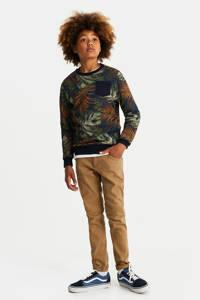 WE Fashion Blue Ridge regular fit broek beige, Beige