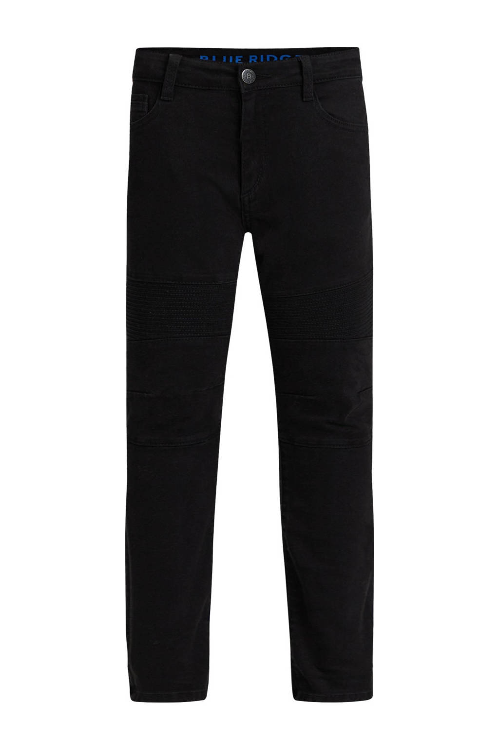 WE Fashion Blue Ridge skinny jeans zwart, Zwart