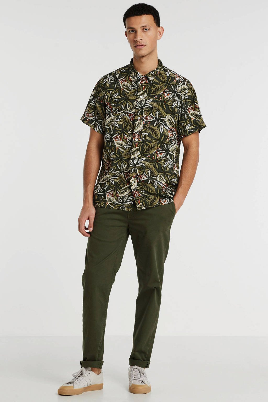 Banana Republic slim fit overhemd groen, Groen