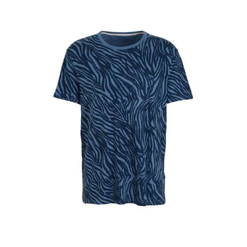 Banana Republic T-shirt met all over print blauw