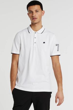 regular fit polo met logo wit