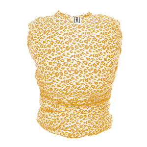 draagdoek Stretchy Wrap Deluxe yellow leopard
