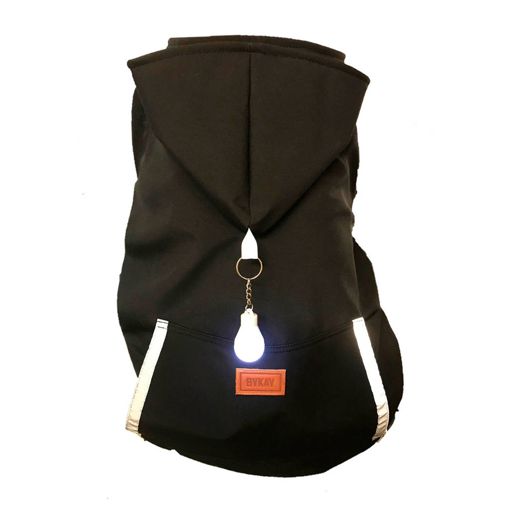 ByKay regenhoes voor de draagzak black with light, Zwart
