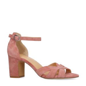 suède sandalettes roze