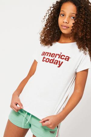 T-shirt Emma Jr. met logo offwhite