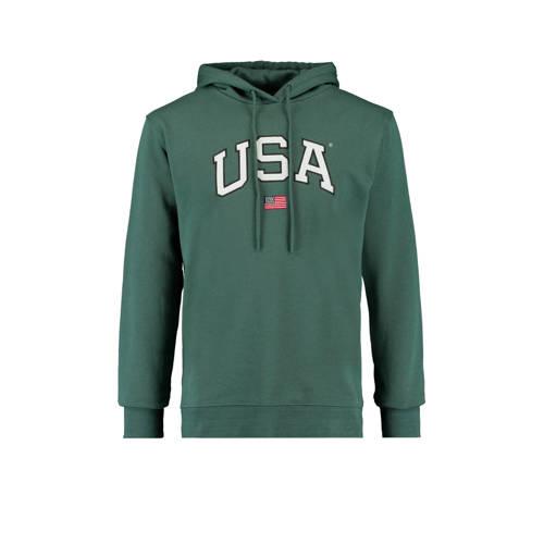 America Today hoodie met logo green