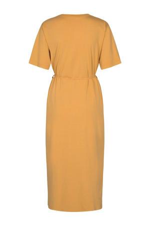 jersey jurk Philine  lichtgeel