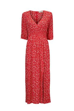 gebloemde jurk Chano rood