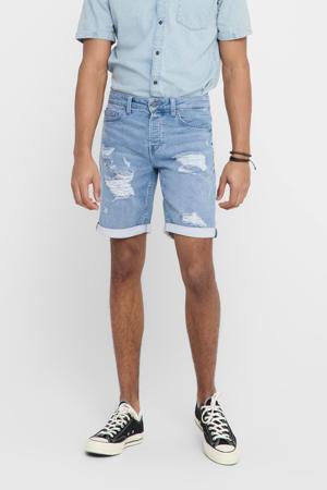 regular fit jeans short lichtblauw