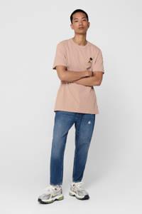 ONLY & SONS T-shirt met logo misty rose, Misty rose