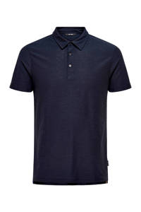 ONLY & SONS slim fit polo marine, Marine