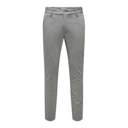 ONLY & SONS slim tapered fit chino light grey