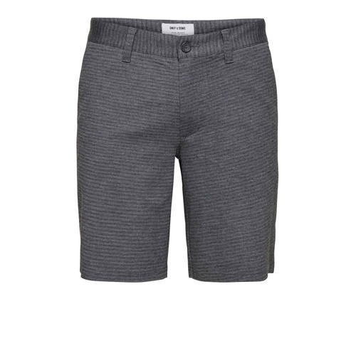 ONLY & SONS tapered fit bermuda zwart