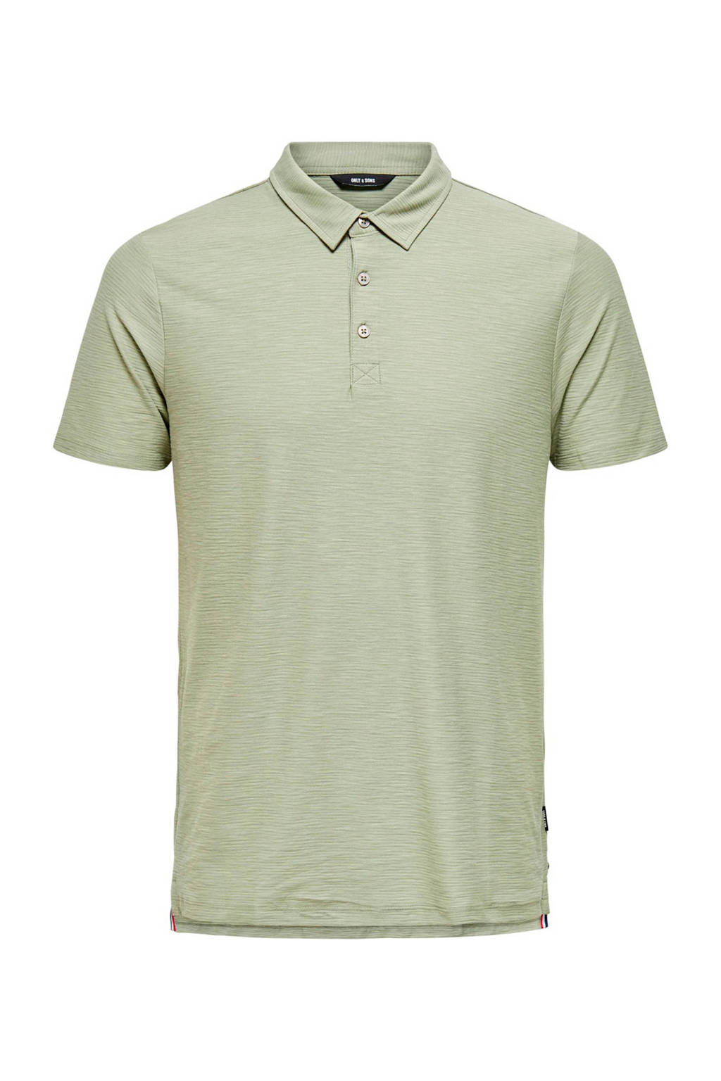 ONLY & SONS slim fit polo seagrass