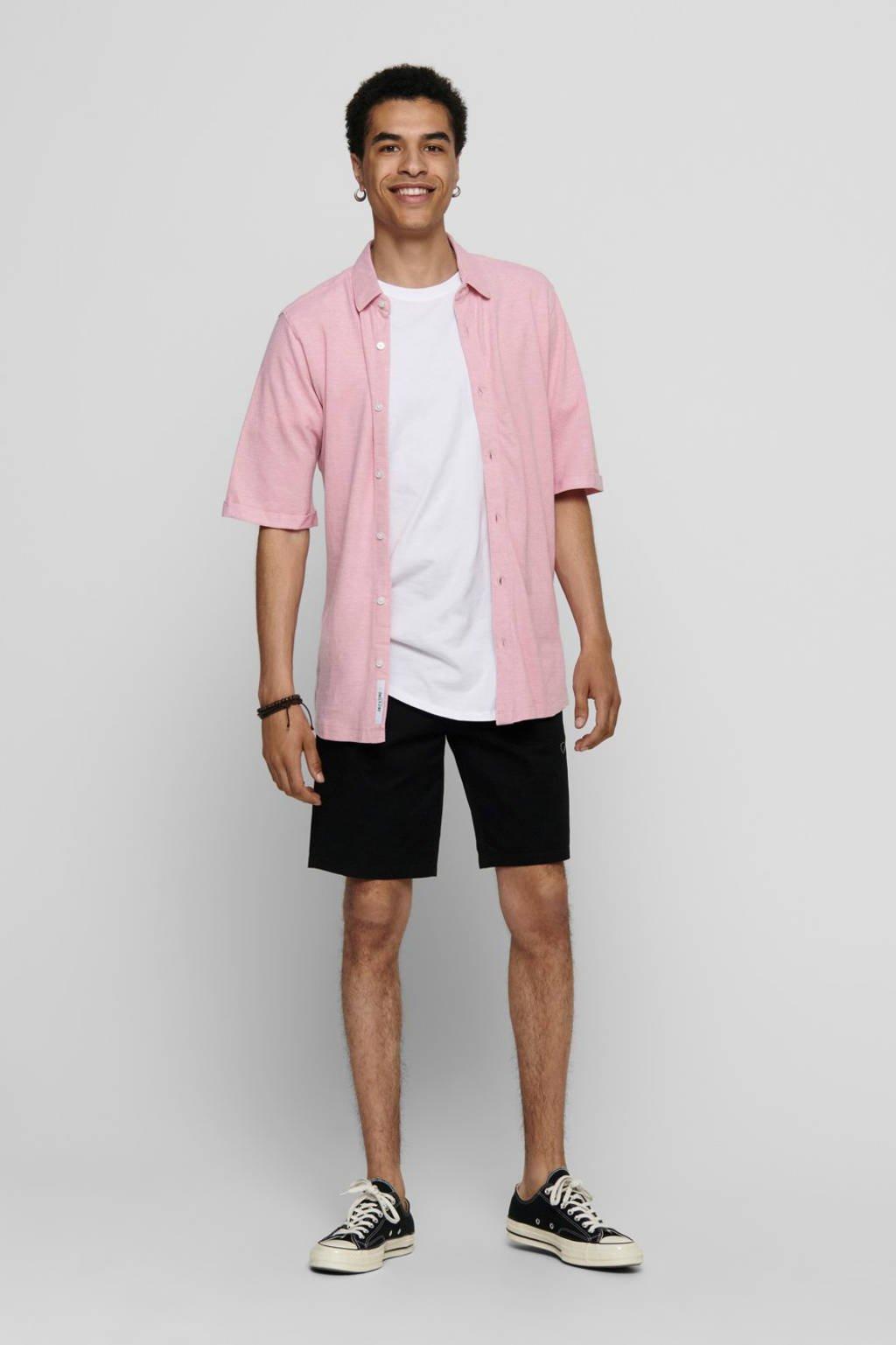 ONLY & SONS regular fit overhemd roze, Roze