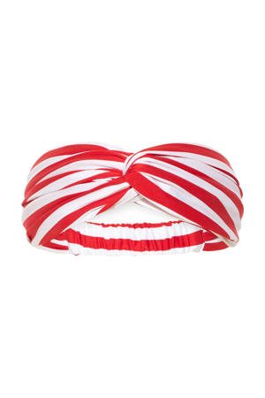 gestreepte haarband Sexy Stripes rood/wit