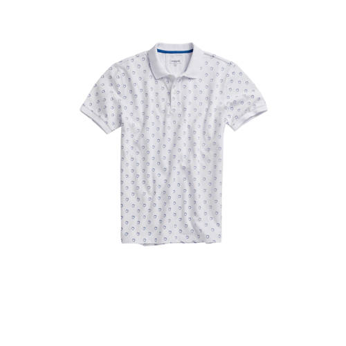 McGregor slim fit polo met all over print wit