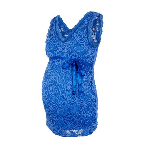 MAMALICIOUS gebloemde zwangerschapstop Mivana blau