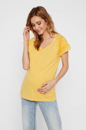 zwangerschapsshirt Annabel van biologisch katoen geel