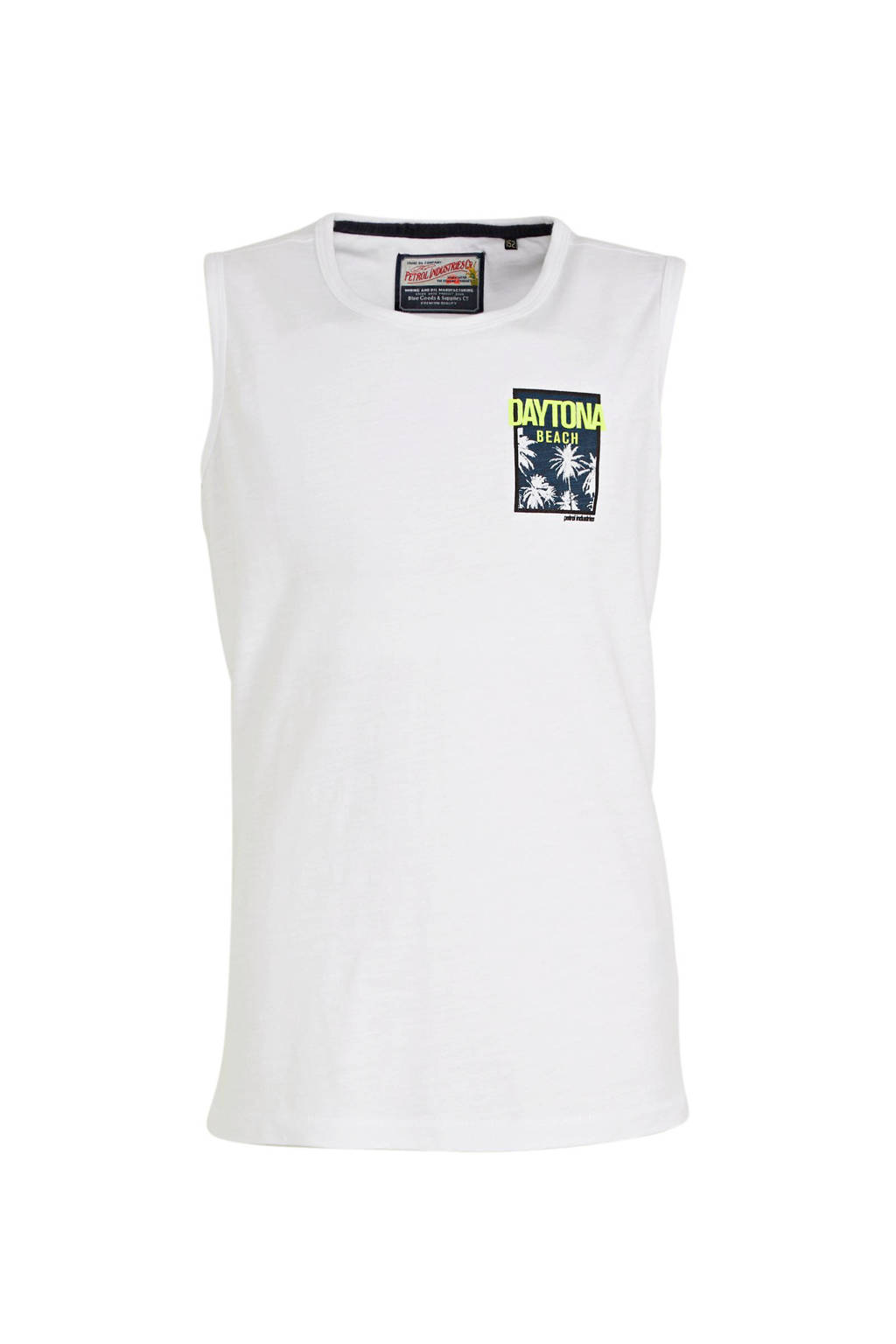 Petrol Industries T-shirt met borstzak wit, Wit