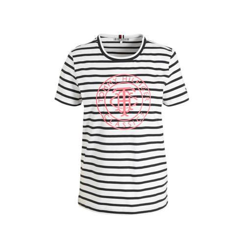Tommy Hilfiger gestreept T-shirt wit/blauw
