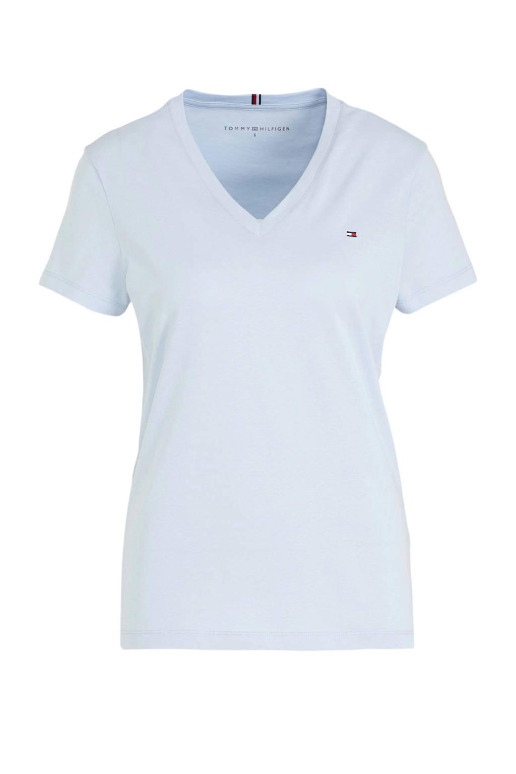 Tommy Hilfiger T-shirt lichtblauw, Lichtblauw