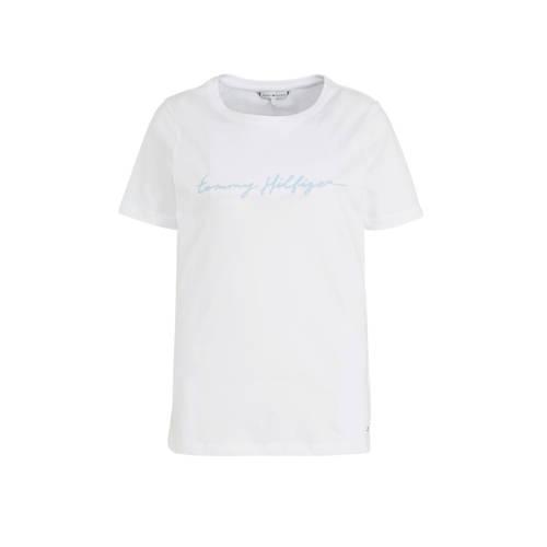 Tommy Hilfiger T-shirt met tekst wit