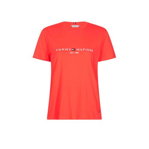 Tommy Hilfiger T-shirt met logo rood