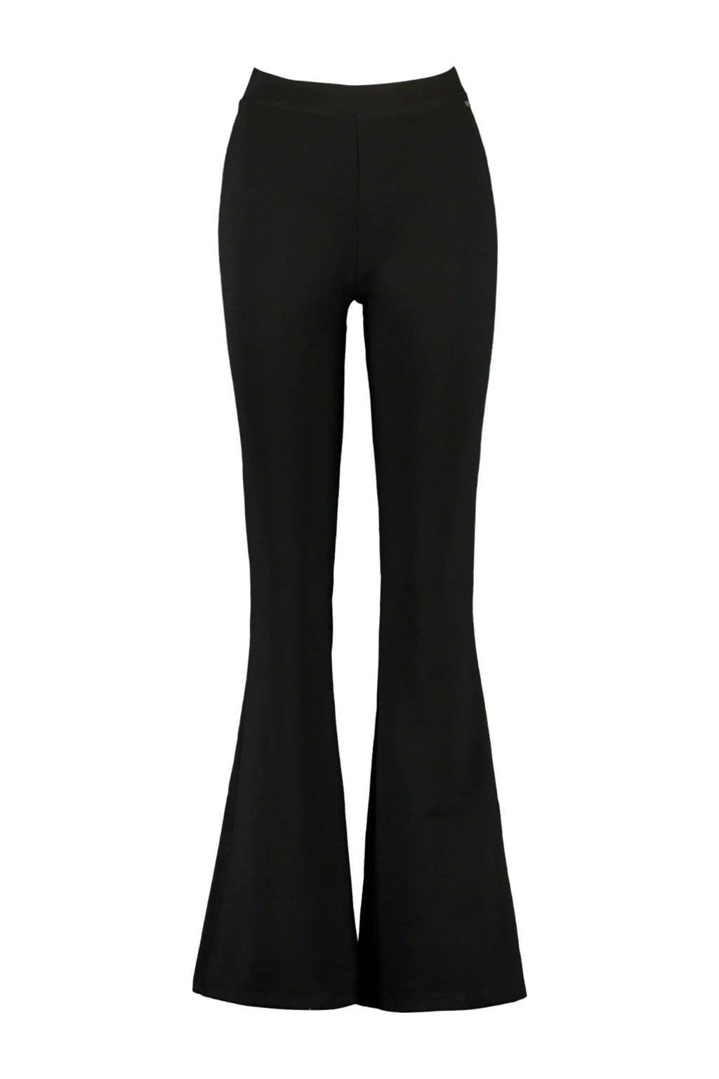 America Today high waist flared broek zwart, Zwart