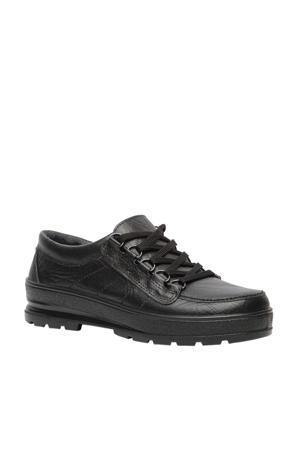 comfort leren veterschoenen zwart