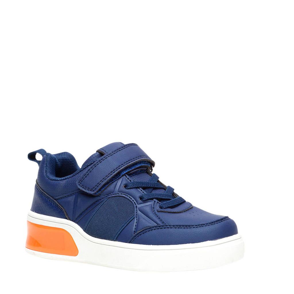 Scapino Blue Box   sneakers met lichtjes blauw/oranje, Blauw/oranje