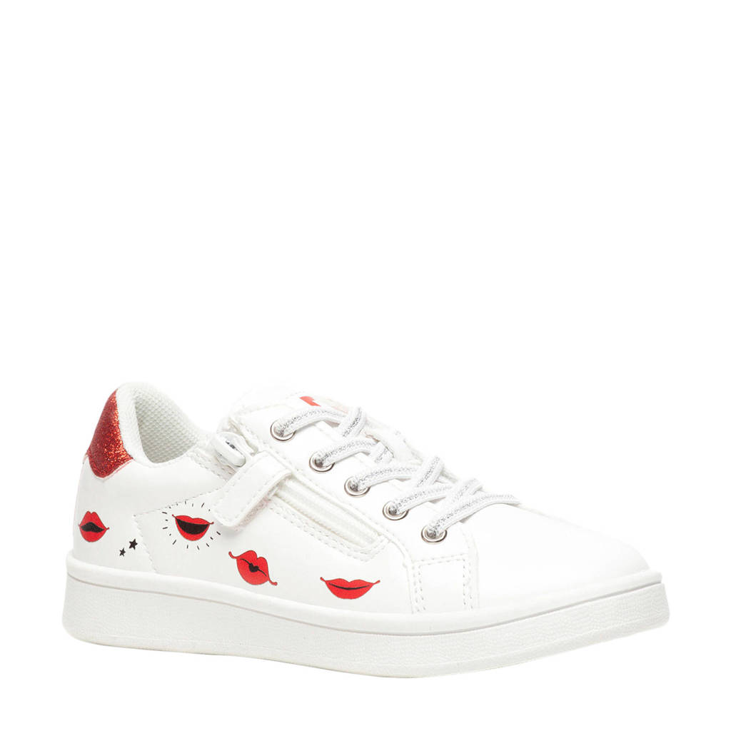 Scapino Blue Box   sneakers wit/rood, Wit/rood