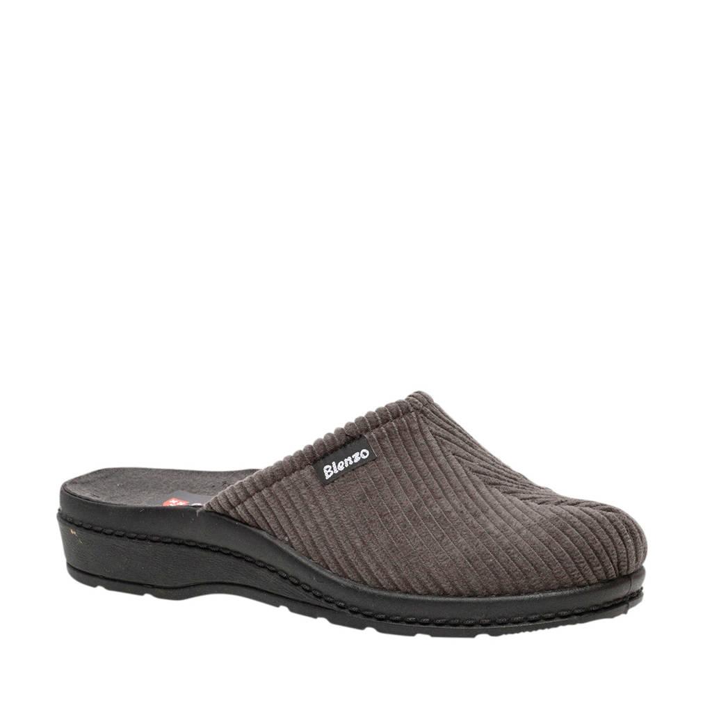 Scapino Blenzo pantoffels antraciet, Grijs/antraciet