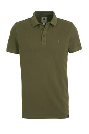 regular fit polo base army