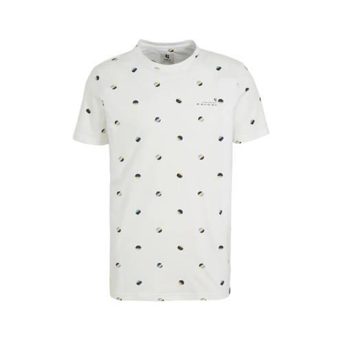 Garcia T-shirt met stippen wit