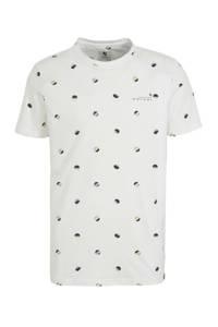 Garcia T-shirt met stippen wit, Wit