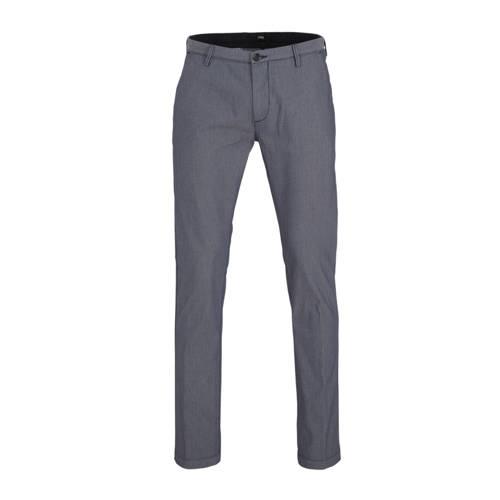 BOSS Menswear slim fit pantalon grijsblauw