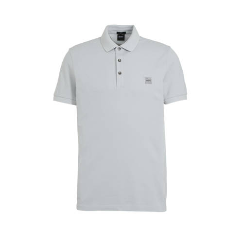 BOSS Casual slim fit polo Passenger silver