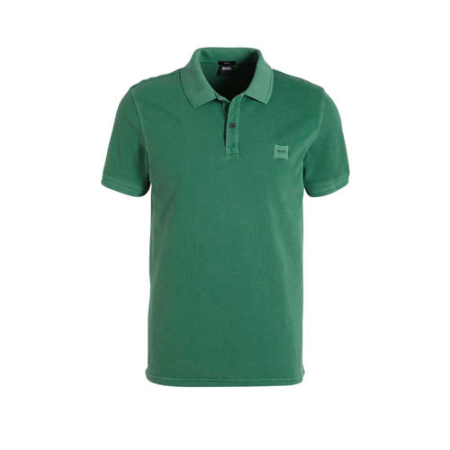 BOSS Casual slim fit polo groen