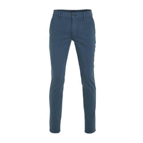 BOSS Casual slim fit pantalon donkerblauw