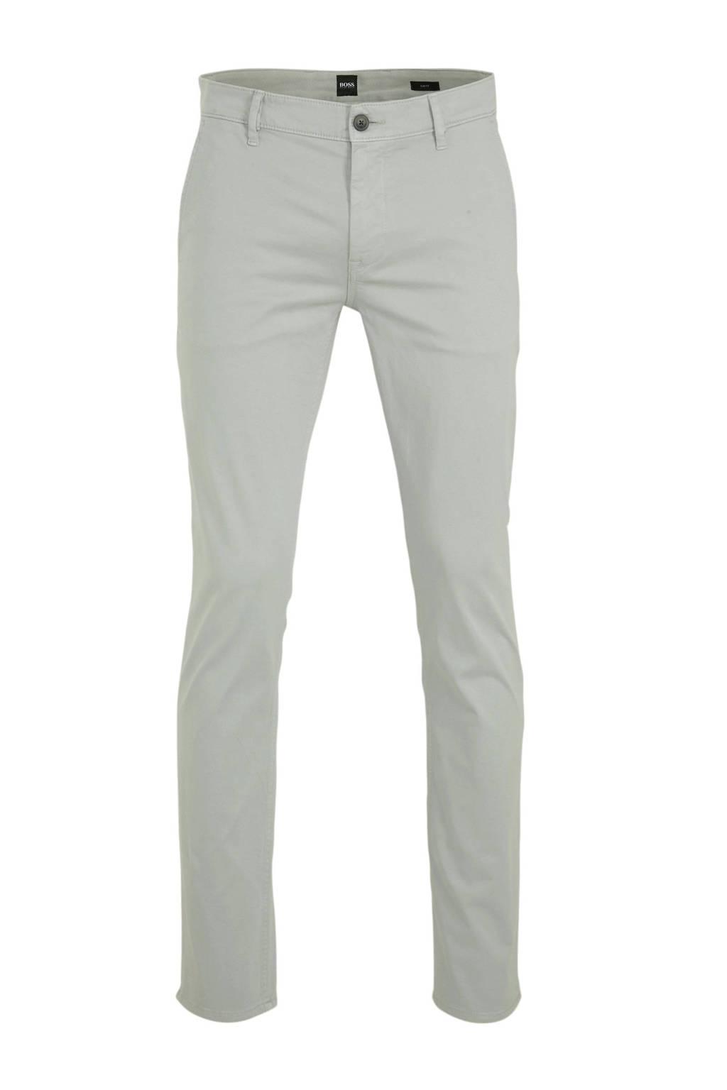 BOSS Casual slim fit pantalon beige, Beige