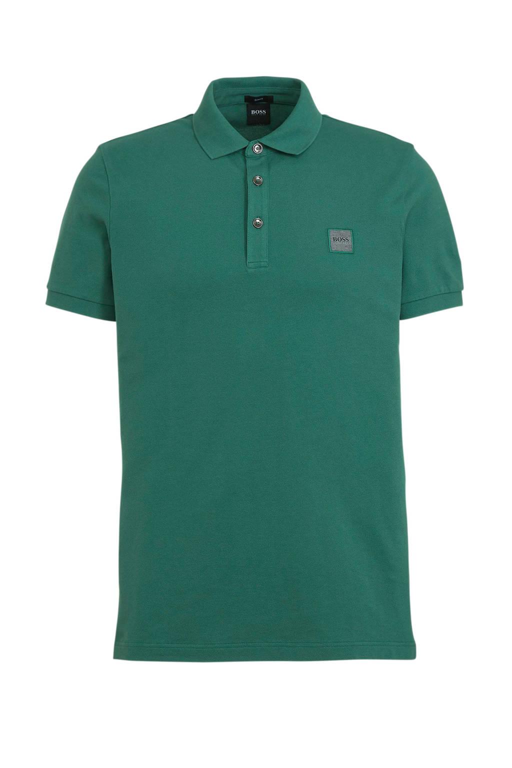 BOSS Casual slim fit polo Passenger medium green, Medium green