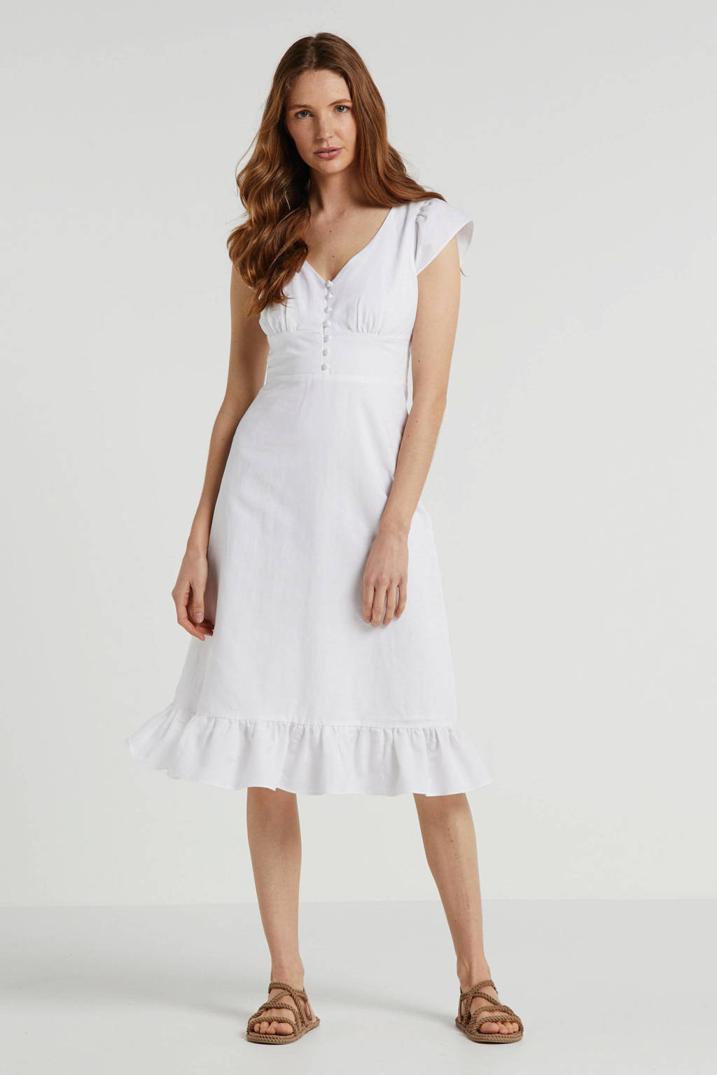 Banana Republic jurk met linnen wit, Wit