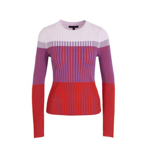 Banana Republic fijngebreide trui rood/paars/roze