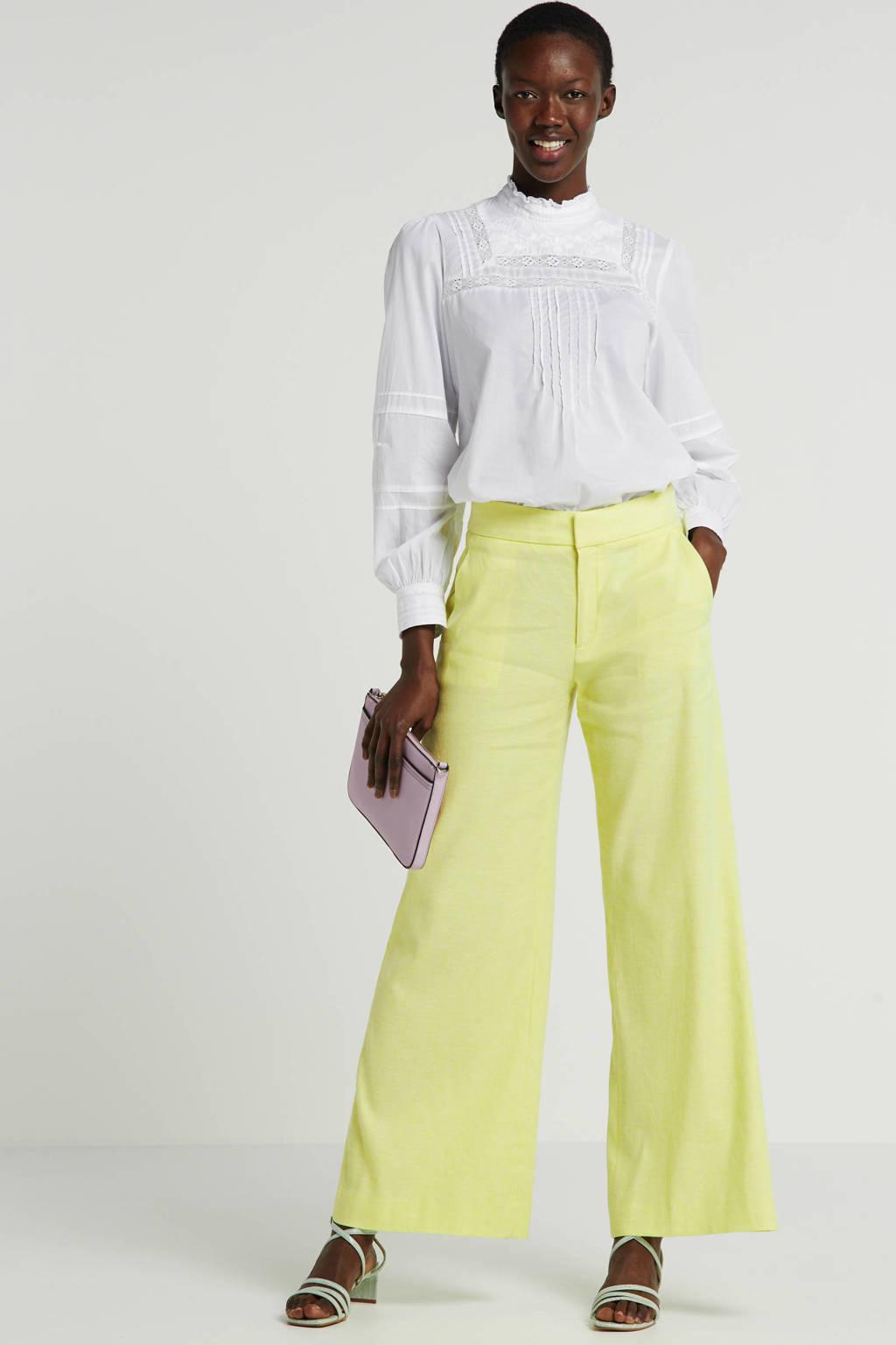 Banana Republic loose fit broek met linnen geel, Geel