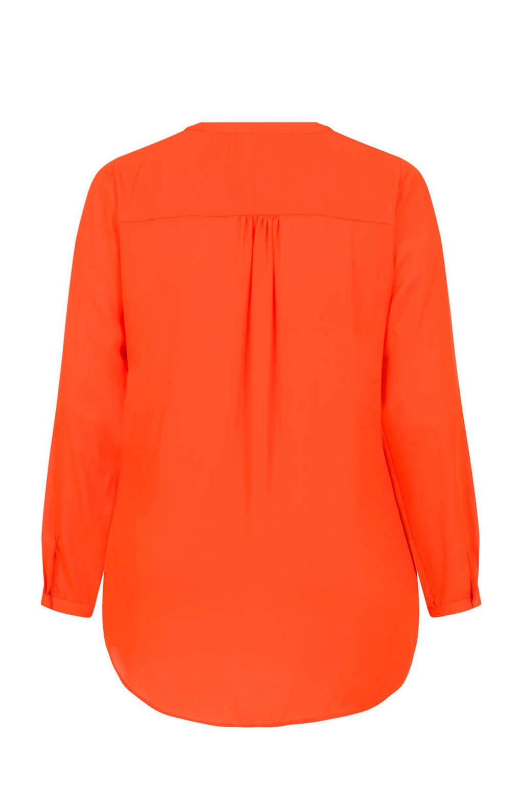 Miss Etam Plus blouse oranje, Oranje