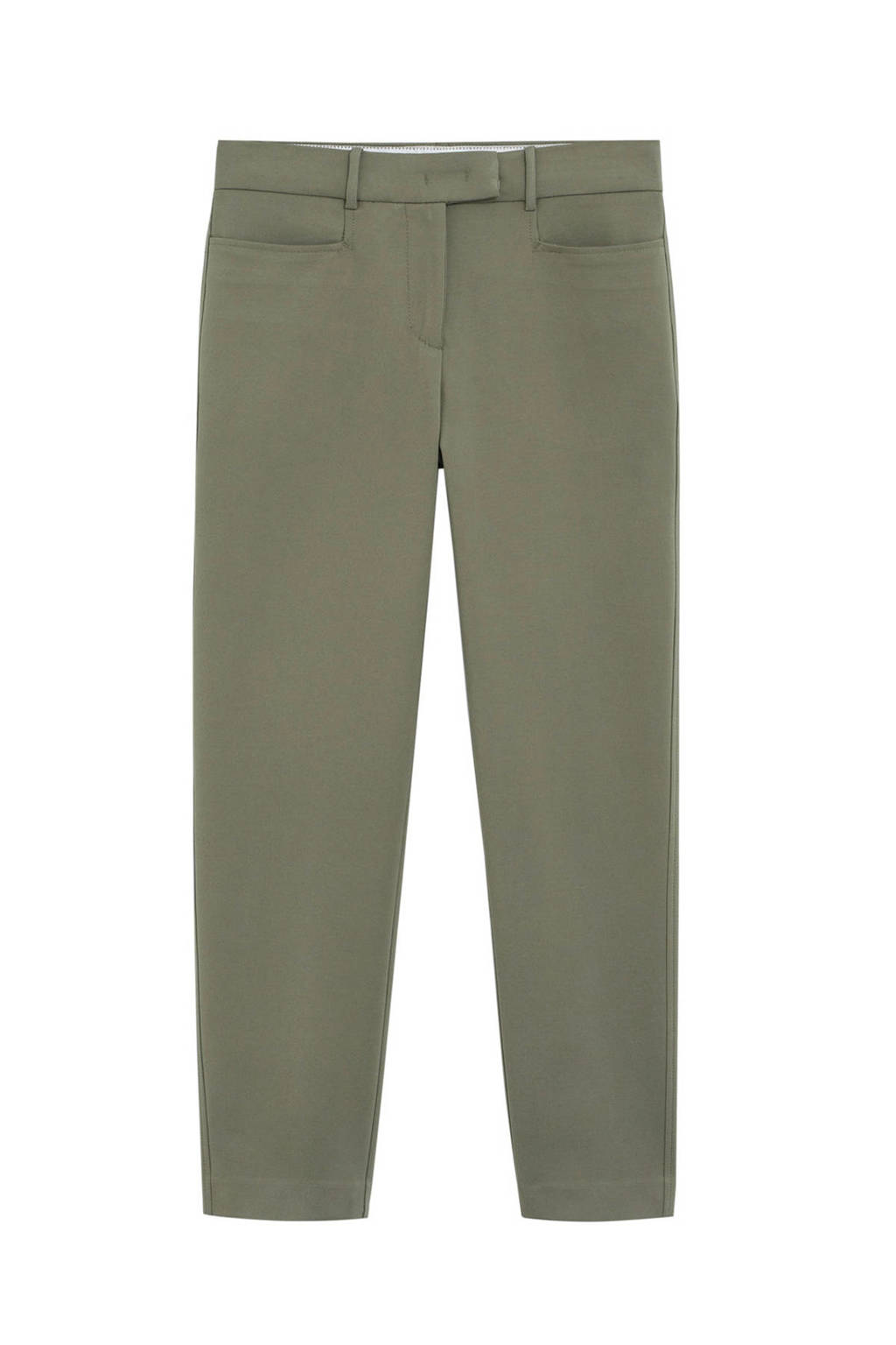 Mango straight fit pantalon groen, Groen