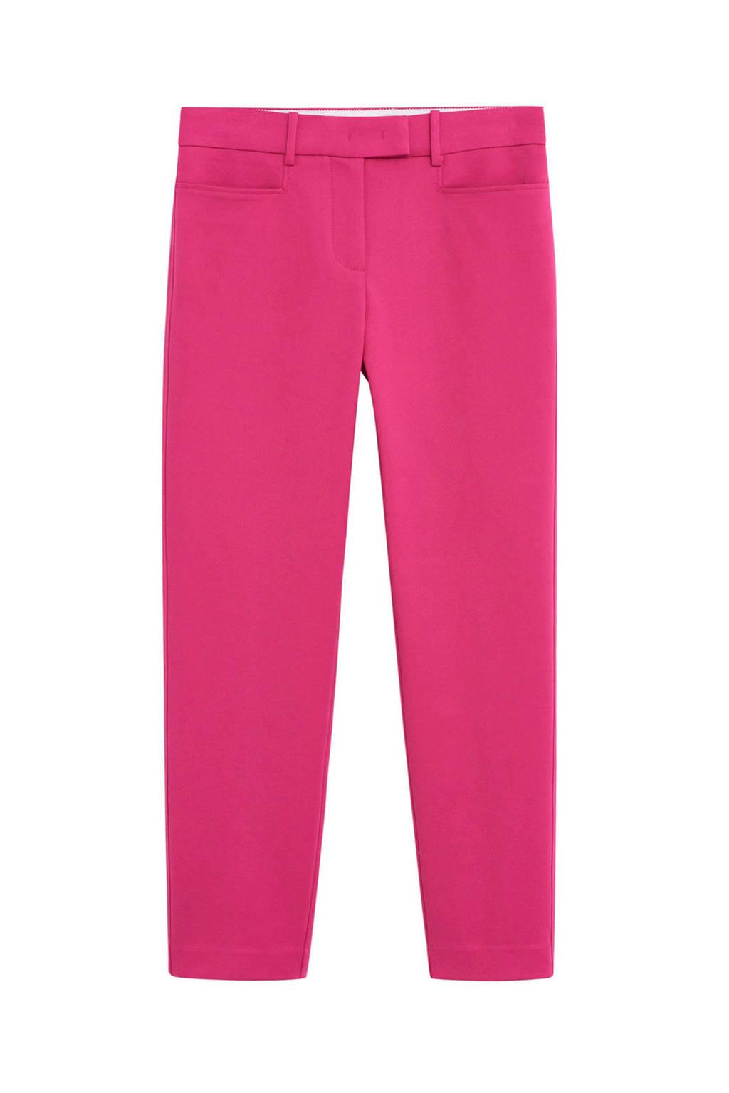 Mango straight fit pantalon roze, Roze