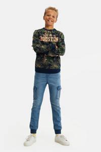 WE Fashion Blue Ridge tapered fit jeans stonewashed, Stonewashed